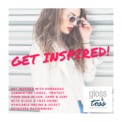 gloss and toss protect hair add hair shine