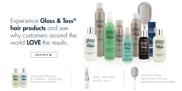 gloss and toss hair products banner sample1