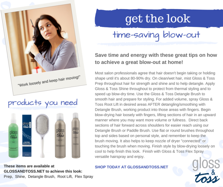 gloss and toss perfect blow-out