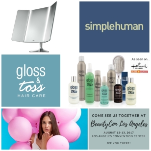 Gloss & Toss joins SimpleHuman and BeautyCon Los Angeles