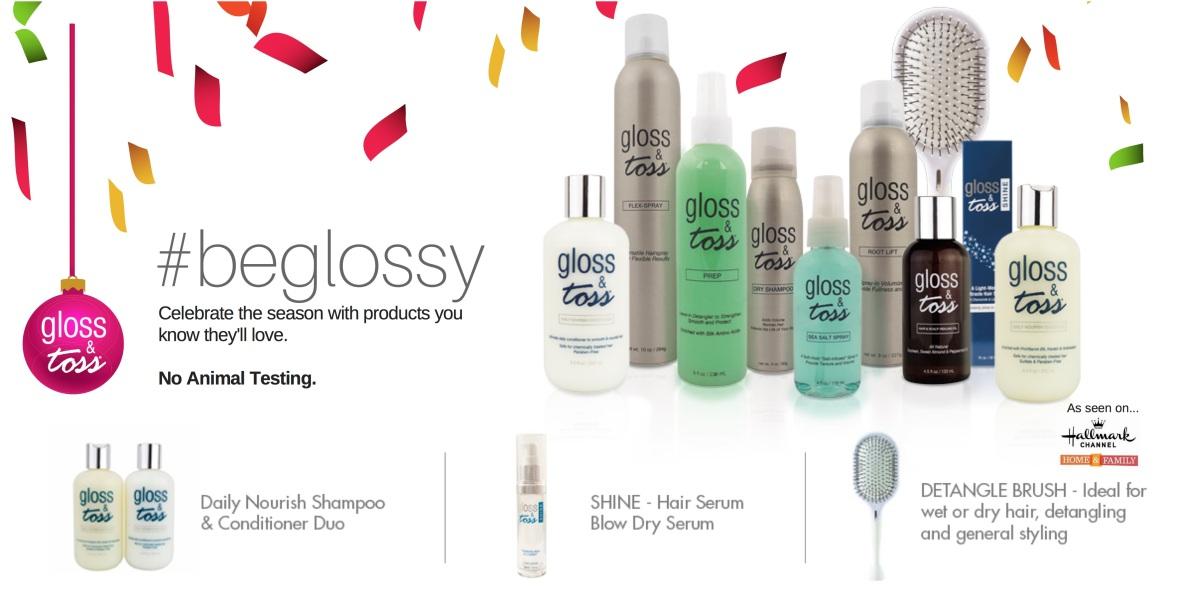 Gloss & Toss Holiday Hair