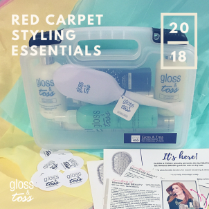 gloss toss styling kit red carpet hair