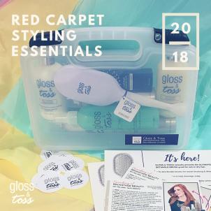 gloss toss styling kit red carpet hair