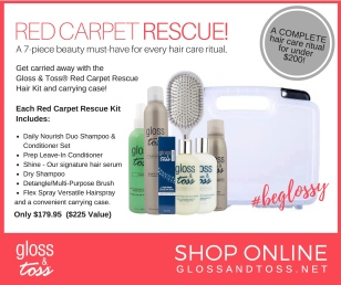 Red Carpet Hair Kit from Gloss & Toss